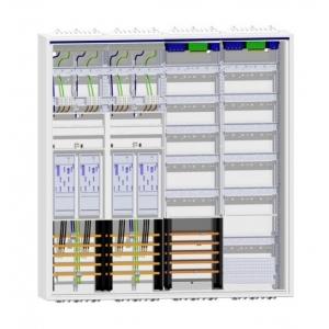 Hager Zählerschrank 4 Zähler eHz + 2 Verteiler mit SAS und APZ