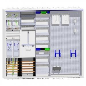 Hager Zählerschrank 2 Zähler für eHz TSG Verteiler mit APZ und Multimedia