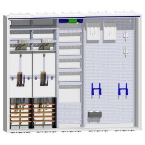 Komplettschrank 2 Zähler Verteiler inklusive APZ und doppeltem Multimedia