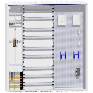 1 Zähler Tarifsteuergerätefeld, 234TE Verteilung und doppeltem Multimedia