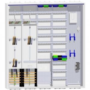 Hager Zählerschrank 3 Zähler TSG 192TE Verteilung  mit APZ und Multimedia