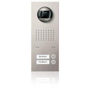 Komplettset Acero pur Edelstahl-Türstation mit Video-Hausstation für 2 Teilnehmer