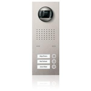 Komplettset Acero pur Edelstahl-Türstation mit Video-Hausstation für 3 Teilnehmer