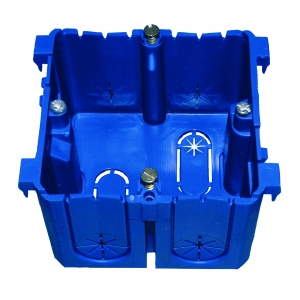 PROTEC.class Geräteeinbaudose für Brüstungskanal PBRED 80 blau