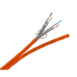 Datenkabel duplex Cat.7A 1500Mhz S/FTP 2x(4x2xAWG22) FRNC/LSOH-3 orange