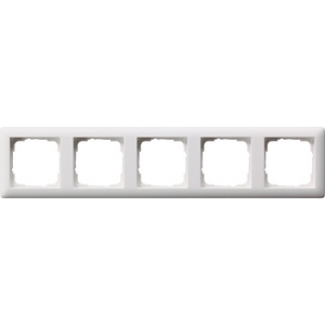 Gira Rahmen 021504 5fach Standard 55 reinweiss seidenmatt