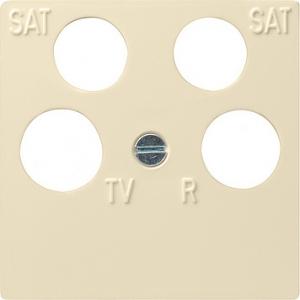 Gira Zentralplatte 025901 4fach System 55 cremeweiss (025901)