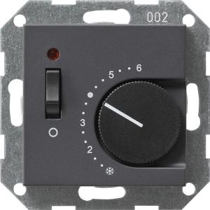 GIRA Raumtemperaturregler 230V Öff+Sch System 55 anthrazit (039228)
