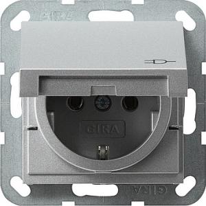 Gira Schuko-Steckdose 045426 System 55 alu (045426)