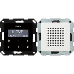 Gira UP-Radio 228027 RDS System 55 reinweiss seidenmatt