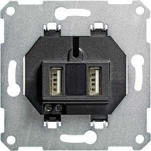 Gira Spannungsversorgung 235900 USB 2fach Einsatz (235900)