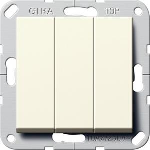 Gira Wippschalter 283201 Wechsel 3fach cremeweiss