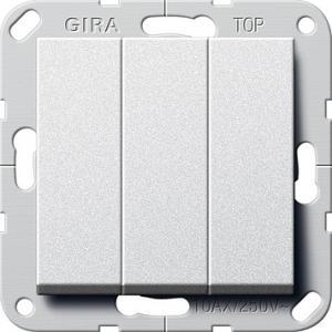 Gira Taster 284426 3fach 1polig alu (284426)