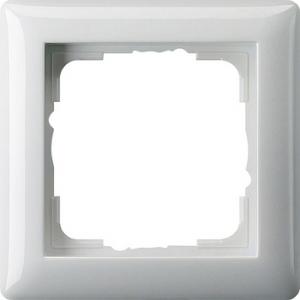 Gira Rahmen 021103 1fach Standard 55 reinweiss glänzend