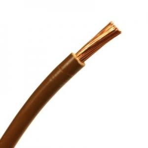 PVC-Aderleitung H07V-K 1x10 flexibel braun