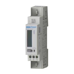 Hager Energiezähler ECR140D 1phasig direkt 40A 1M MODBUS MID