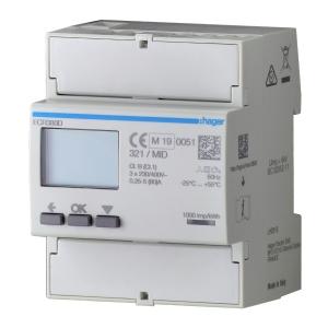 Hager Energiezähler ECR380D 3phasig direkt 80A 4M MODBUS MID