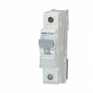 Hager LS-Automat MCN100 1 polig C 0,5A