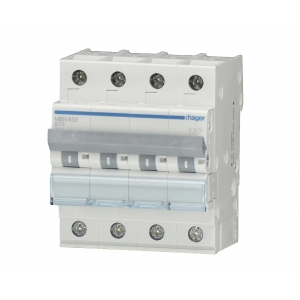 Hager LS-Automat MBN613 4 polig B 13A
