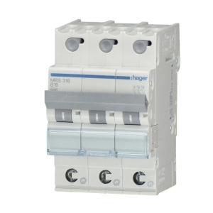 Hager LS-Automat MBS306 3 polig B 6A