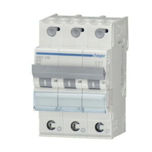 Hager LS-Automat MBS363 3 polig B 63A