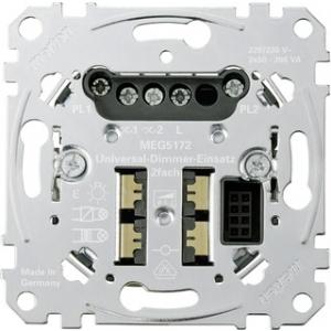 Merten Universal-Dimmer-Einsatz MEG5172-0000 2fach