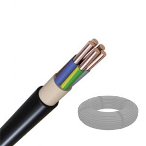 Erdleitung PVC NYY-J 5x2,5 mm² 100 m Bund schwarz