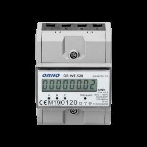 Orno 3-Phasen Stromzähler mit MID 80 A OR-WE-520