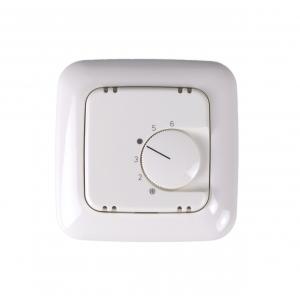 Busch Jäger Raumtemperaturregler Thermostat Komplettset mit Abdeckung, Alre Temperaturregler und BJ 1 fach Rahmen-214