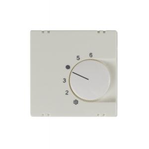 Zentralplatte für Raumthermostat- Einsatz K1076U/E, KLEIN® K55 reinweiß