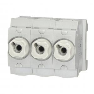 Hager Sicherungssockel 3x63A LD046 3-polig + Schraubkappen LE18SK