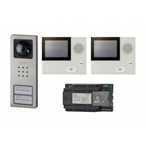 Siedle Videoanlagen-Set SET CVB 850-2 E/W ZFH Edelst. Basic Bus