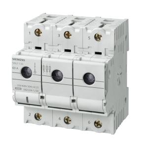 Siemens Minzed-Lasttrennschalter mit Sicherung D02 3-polig  63 A 5SG7133