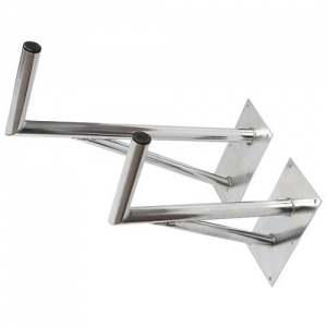 Aluminium Wandhalter Rohr Ø 5cm Maße: 85 x 25 cm