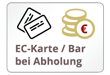 EC Karte / Barzahlung bei Abholung
