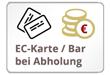 EC Karte / Barzahlung bei Abholung